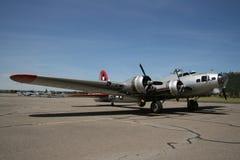 Retro vechtersvliegtuigen Stock Foto