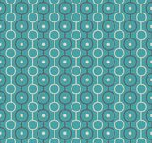 Retro Vector Atomic Background Repeating Pattern. Retro Vector Abstract Atomic Era Background Pattern stock illustration