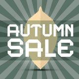 Retro Vector Autumn Sale Title Stock Photo