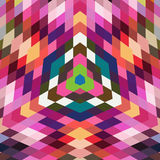 Retro vector backdrop of geometric shapes. Colorful mosaic banne Stock Image