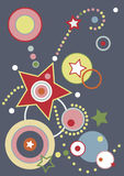 Retro Vector Background. Retro style elements in a vector design Stock Photography