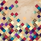 Retro vector background. Colorful mosaic banner. Repeating geometric tiles with colored  rhombus Stock Images