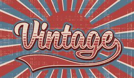 Retro background with hand drawn text, lettering. Royalty Free Stock Image