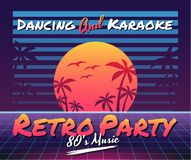 Retro vector background. Vector image of old, retro, vintage style. Party banner, invitation, flyer, advertising. Vector illustration of retro disco and dance stock illustration