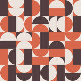 Retro vector background. Vector seamless background pattern in retro mid century style Stock Images