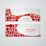 Retro vector banners/cards with space for your content. Fresh el Royalty Free Stock Photography