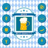 Retro vector beer label Royalty Free Stock Photos