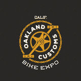 Retro Vector Bike Custom Show Expo Label or Logo Stock Photo