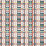 Retro vector blue, beige, white and orange pattern. Retro vector blue, beige, white and orange plaid pattern Royalty Free Stock Photo