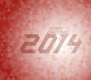 Retro vector Christmas background Stock Photos