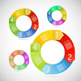 Retro Vector Circle Progress Steps Royalty Free Stock Images