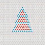 Retro Vector Dots Tree. Retro Vector Dots Christmas, Nature Tree Stock Images