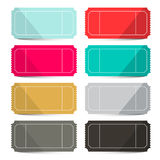 Retro Vector Empty Tickets Set Stock Image