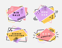 Retro vector flat banners Royalty Free Stock Images