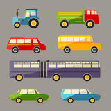 Retro vector flat car icons set Royalty Free Stock Photography