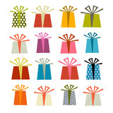 Retro Vector Gift Boxes Set Illustration Royalty Free Stock Photography