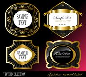 Retro vector golden framed label Royalty Free Stock Photos