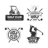 Retro vector golf labels, emblems, badges and logos Stock Photography