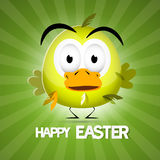 Retro Vector Green Easter Background Stock Image