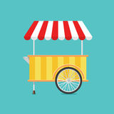 Retro vector ice cream cart Royalty Free Stock Images