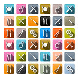 Retro Vector Icons Set Royalty Free Stock Photography