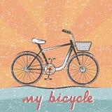 retro vector illustration of bicycle vector illustration