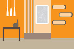 Retro vector interior Royalty Free Stock Photos