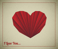 Retro vector love card Royalty Free Stock Image