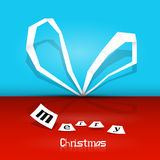 Retro Vector Merry Christmas Background Royalty Free Stock Images