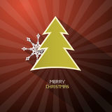 Retro Vector Merry Christmas Dark Red Background Royalty Free Stock Photo