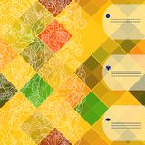 Retro vector pattern. Colorful mosaic banner. Royalty Free Stock Photos