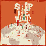 Retro vector poster Stop the war. Stock Photography