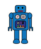 Retro Vector Robot. Fifties toy robot vector illustration Royalty Free Stock Images