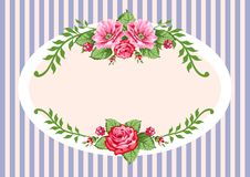 Retro vector roses vintage Stock Photography