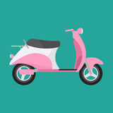 Retro vector scooter illustration. Stock Photography