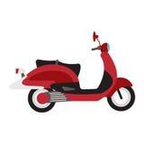 Retro vector scooter illustration. Stock Image