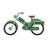 Retro vector scooter illustration. Stock Photo