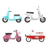Retro vector scooter illustration. Royalty Free Stock Photo