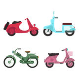 Retro vector scooter illustration. Stock Images