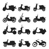 Retro vector scooter silhouette illustration. Royalty Free Stock Photos
