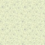 Retro vector seamless pattern with doodle stylized Stock Images