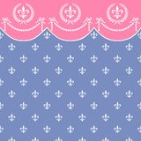 Retro vector seamless pattern with garland Stock Photos