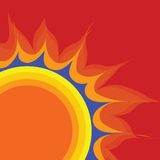 Retro vector sun Stock Images