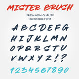 Retro vector type font alphabet handwritten with brush marker pe Stock Photography
