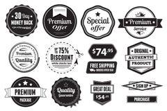 Retro Vector Uitstekende Verbindingen, Etiketten, Zegels en maar Royalty-vrije Stock Foto