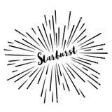 Retro vector van de Steruitbarsting Stock Afbeelding