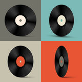 Retro Vector Vinyl Records Set Illustration Stock Photo