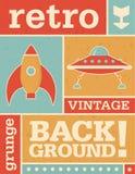 Retro VectorAchtergrond van Grunge Stock Foto's
