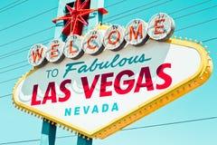 Retro Vegas tecken Royaltyfri Fotografi