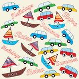 Retro vehicles background Stock Image